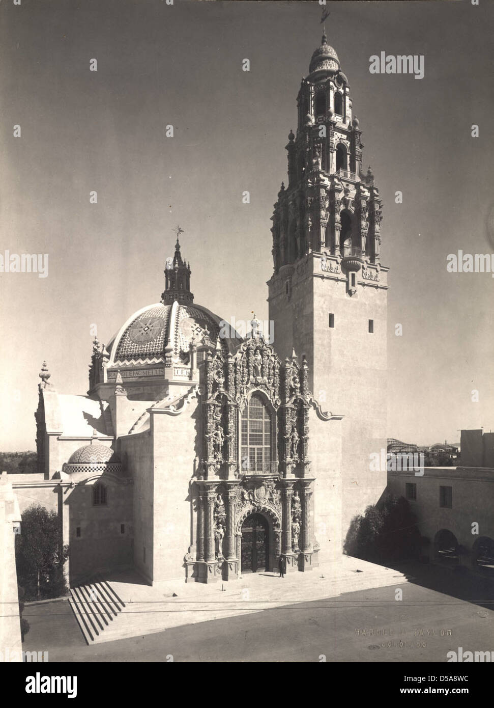 California State Building, 1915 Panama-California Exposition Stock Photo