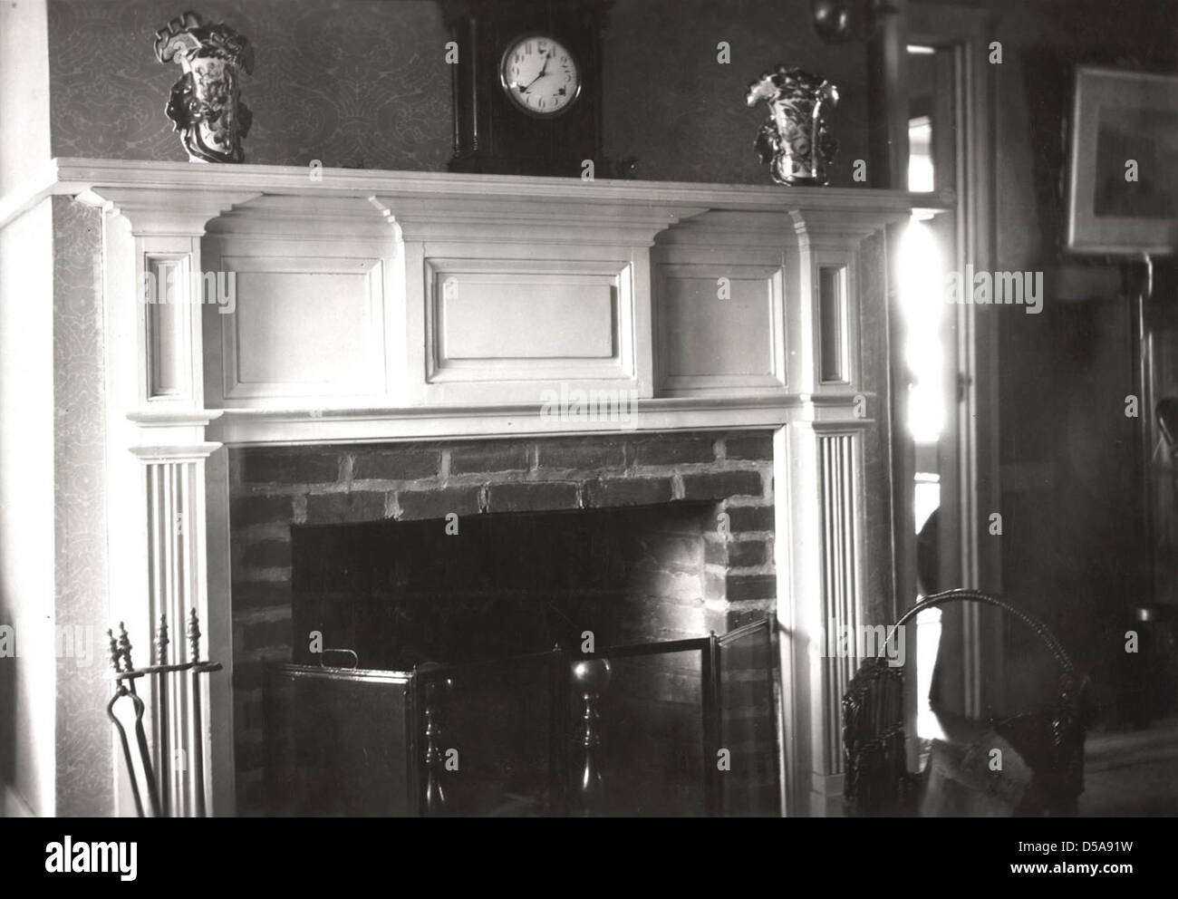 Farmhouse, Fireplace from Brigham Young's Residence at Hayden Stock Photo