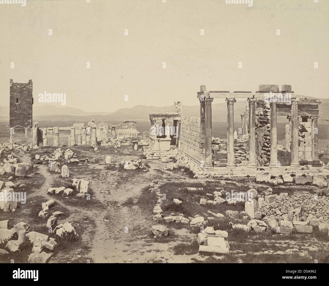 Acropolis, Propylaea and Erechtheum Stock Photo