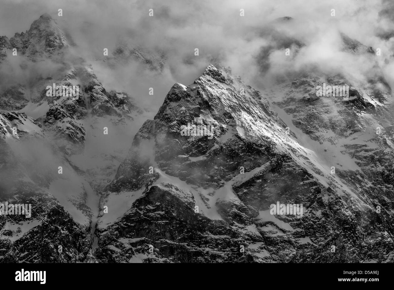 The North Face of Mont Collon Switzerland Stock Photo