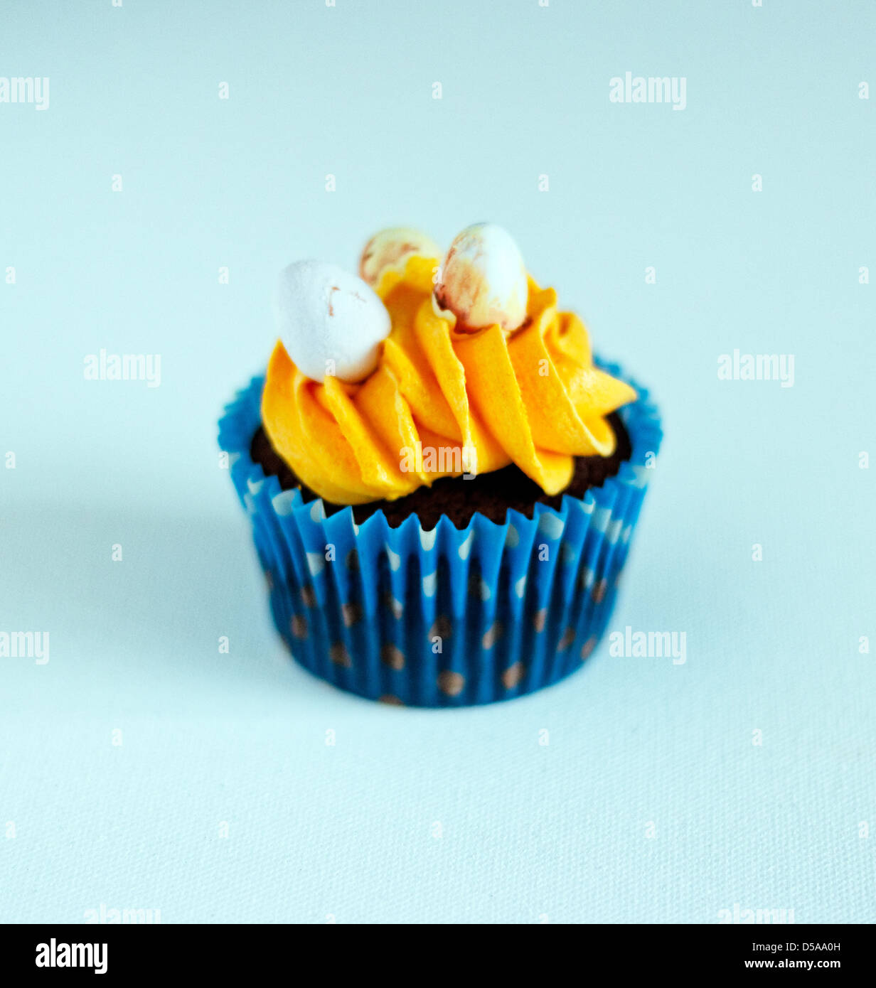 Cupcake with buttercream icing - Stock Image