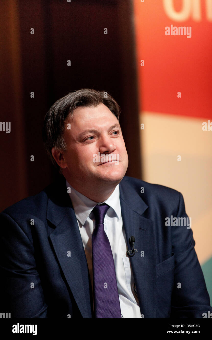 Ed Balls, Labour MP for Morley and Outwood and Shadow Chancellor speaking at the Labour Policy Forum in Birmingham. - Stock Image