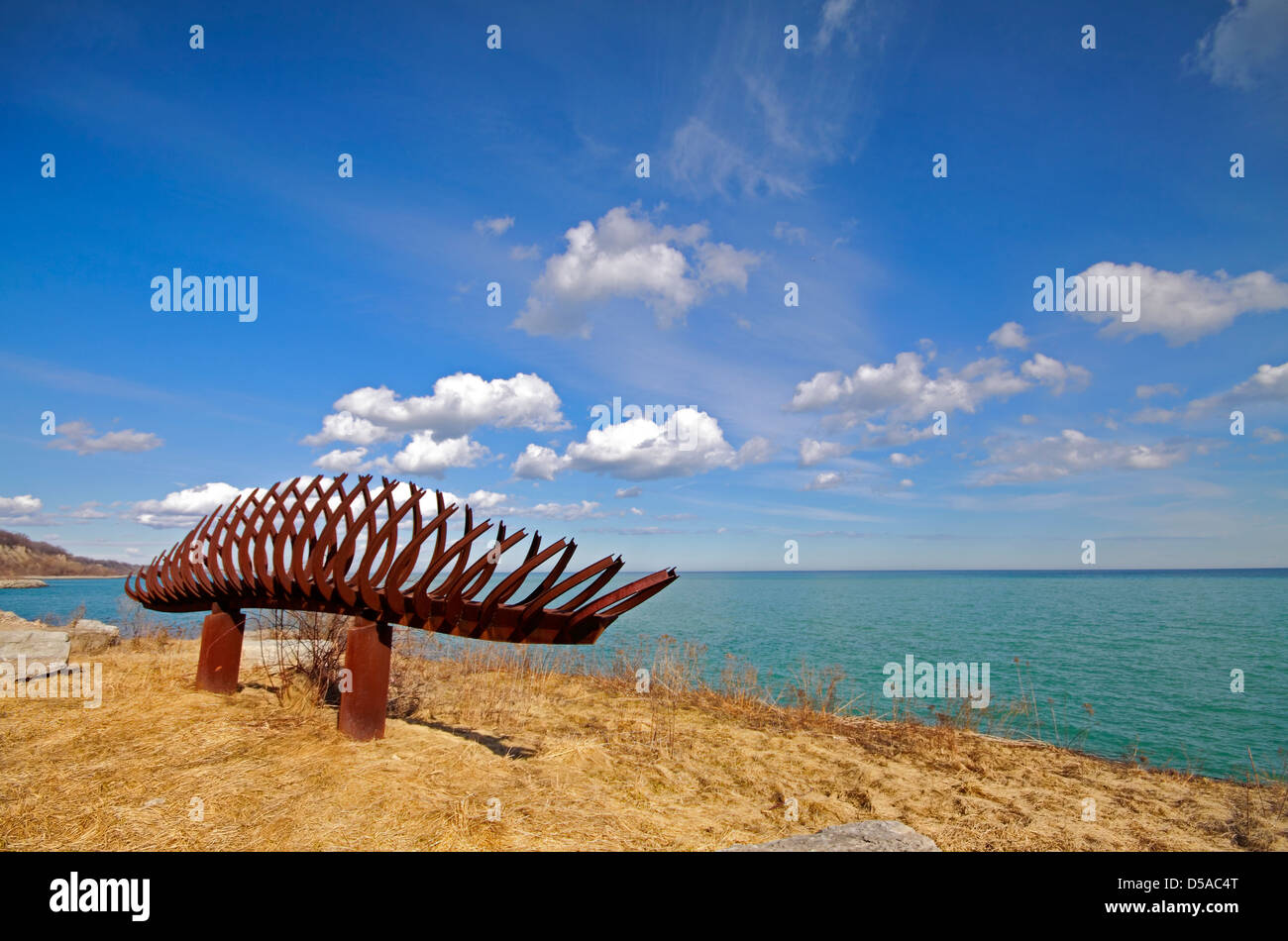 Passage Sculpture at Scarborough Bluffs - Stock Image