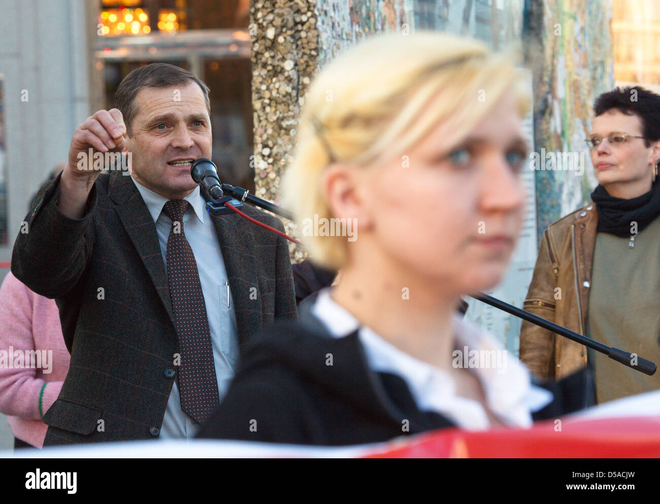 Berlin, Germany, Udo Pastörs, deputy national chairman of the NPD - Stock Image