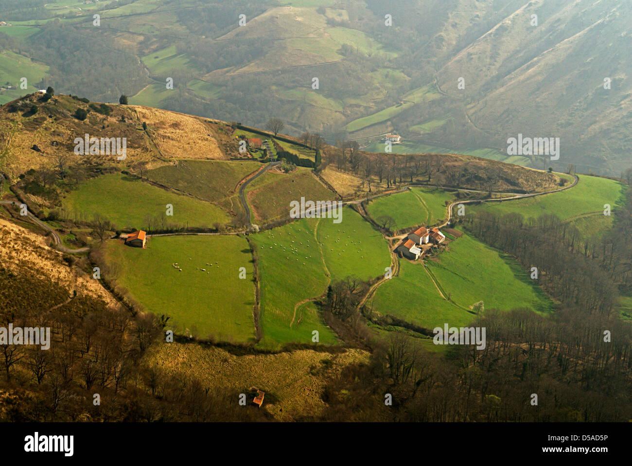 El Camino de Santiago De Compostela in  French Pyrenees - Stock Image