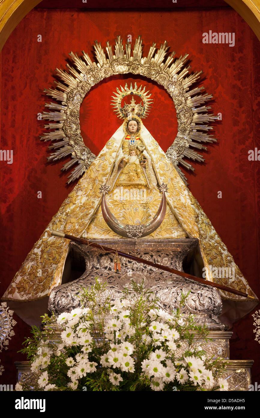 Shrine Of Nuestra Señora De La Caridad Statue Sanlucar De Stock Photo Alamy