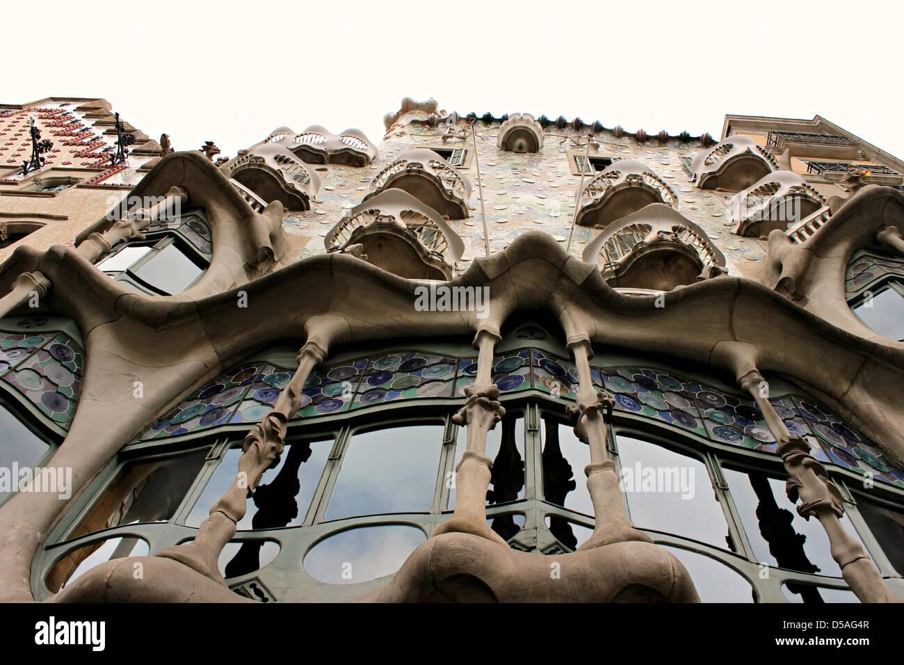 Actualment, l'spectacular Façana are una icona reference to Barcelona. L'anomenada 'Illa de la - Stock Image