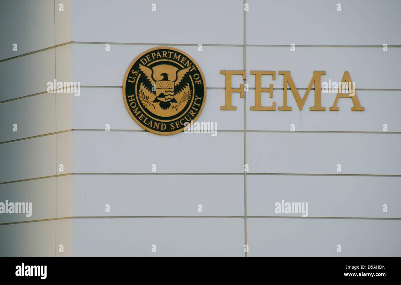 FEMA logo and sign in Washington, DC, USA - Stock Image