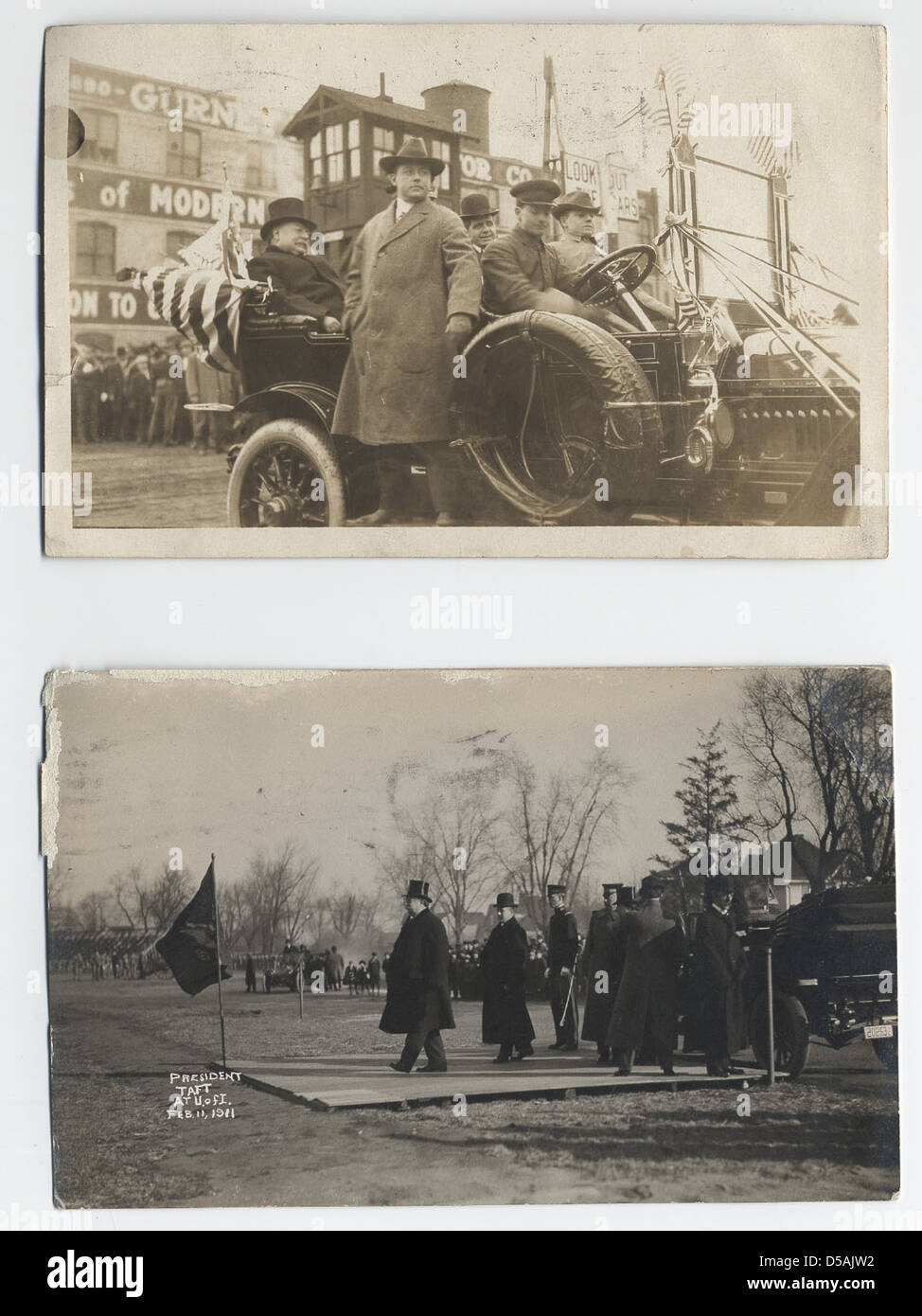 William H. Taft Photographic Postcards, ca. 1911 - Stock Image