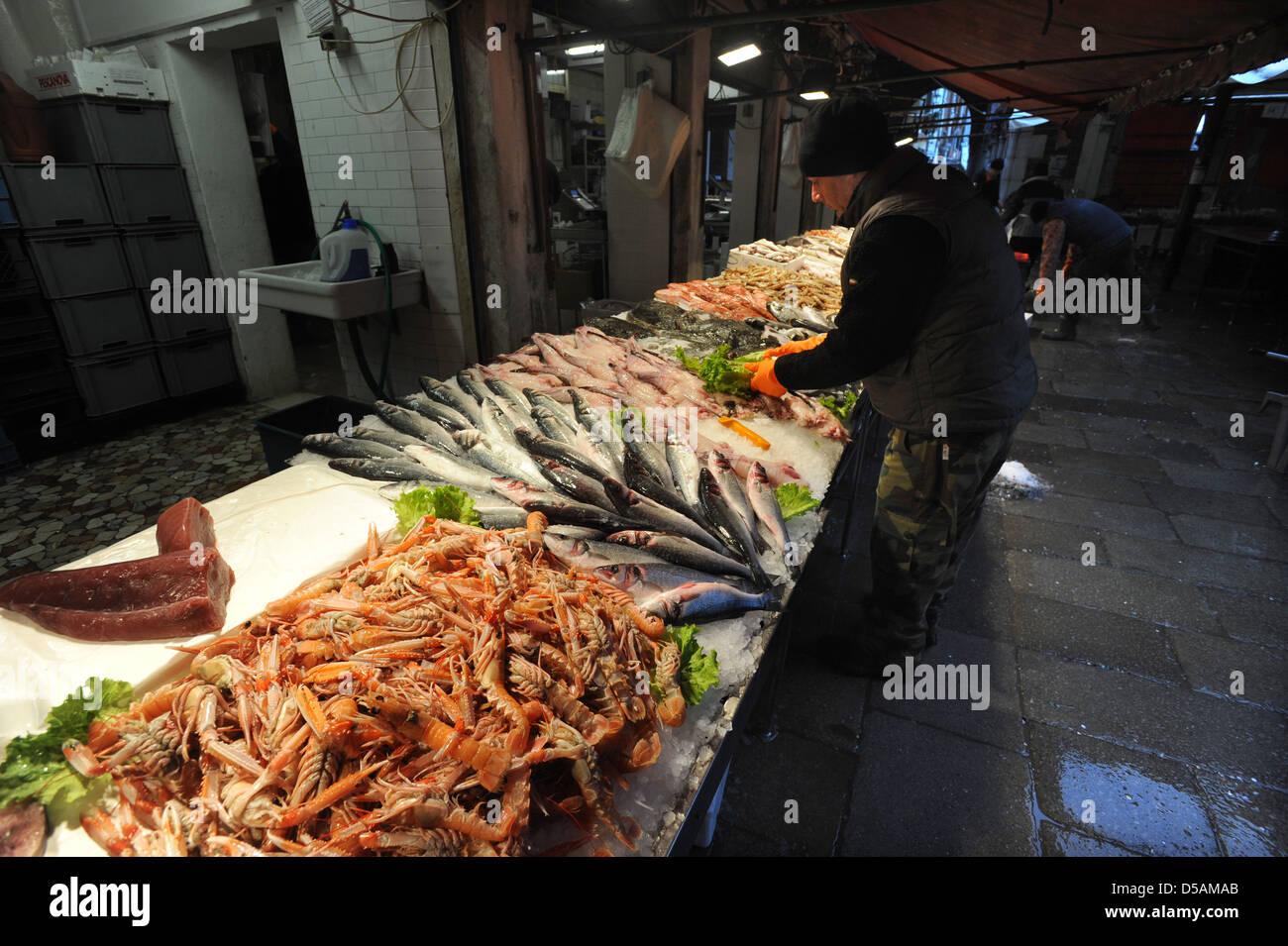 Fish markets Venice - Stock Image