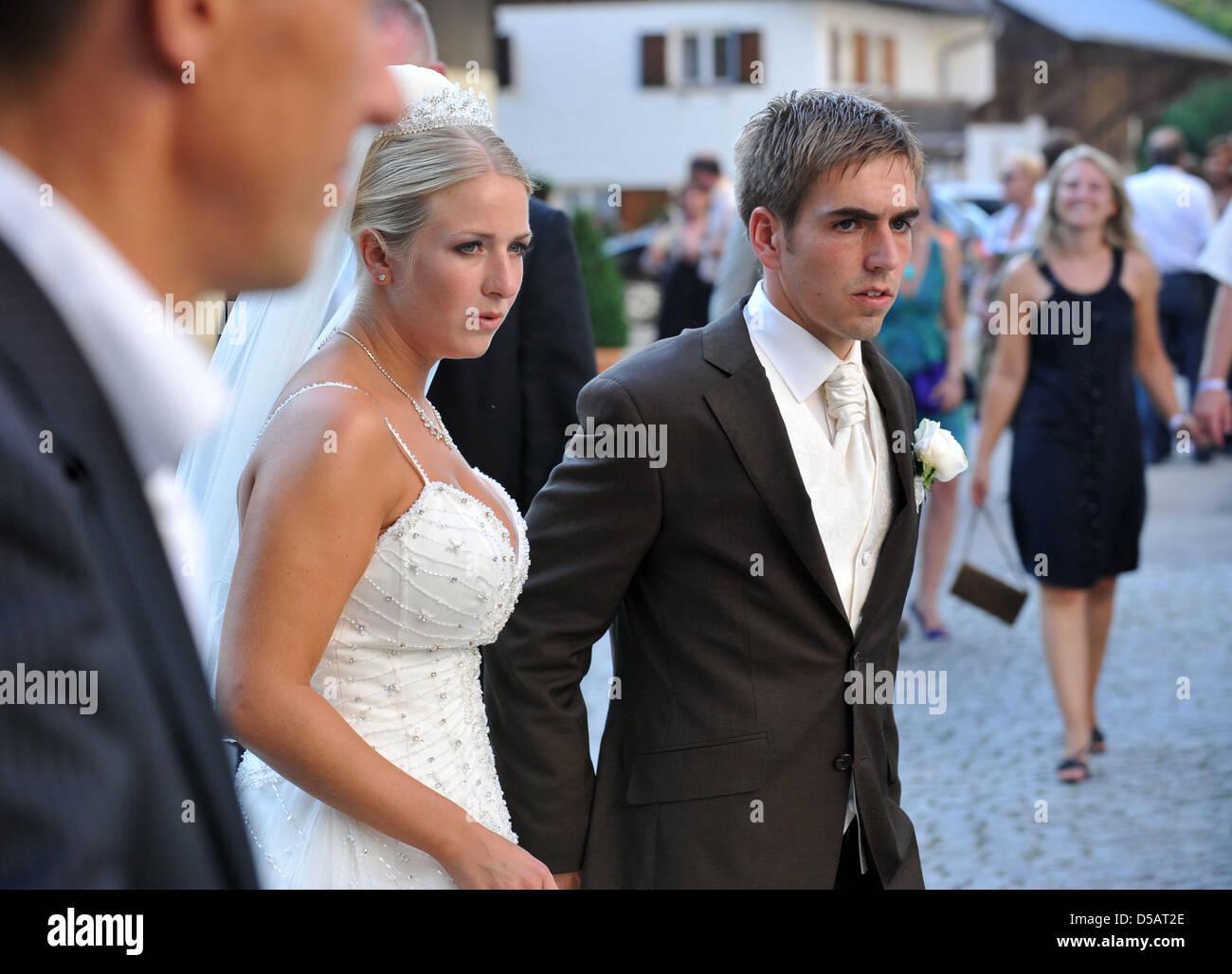 Philipp Lahm And Wife Claudia Stock Photos Philipp Lahm And Wife