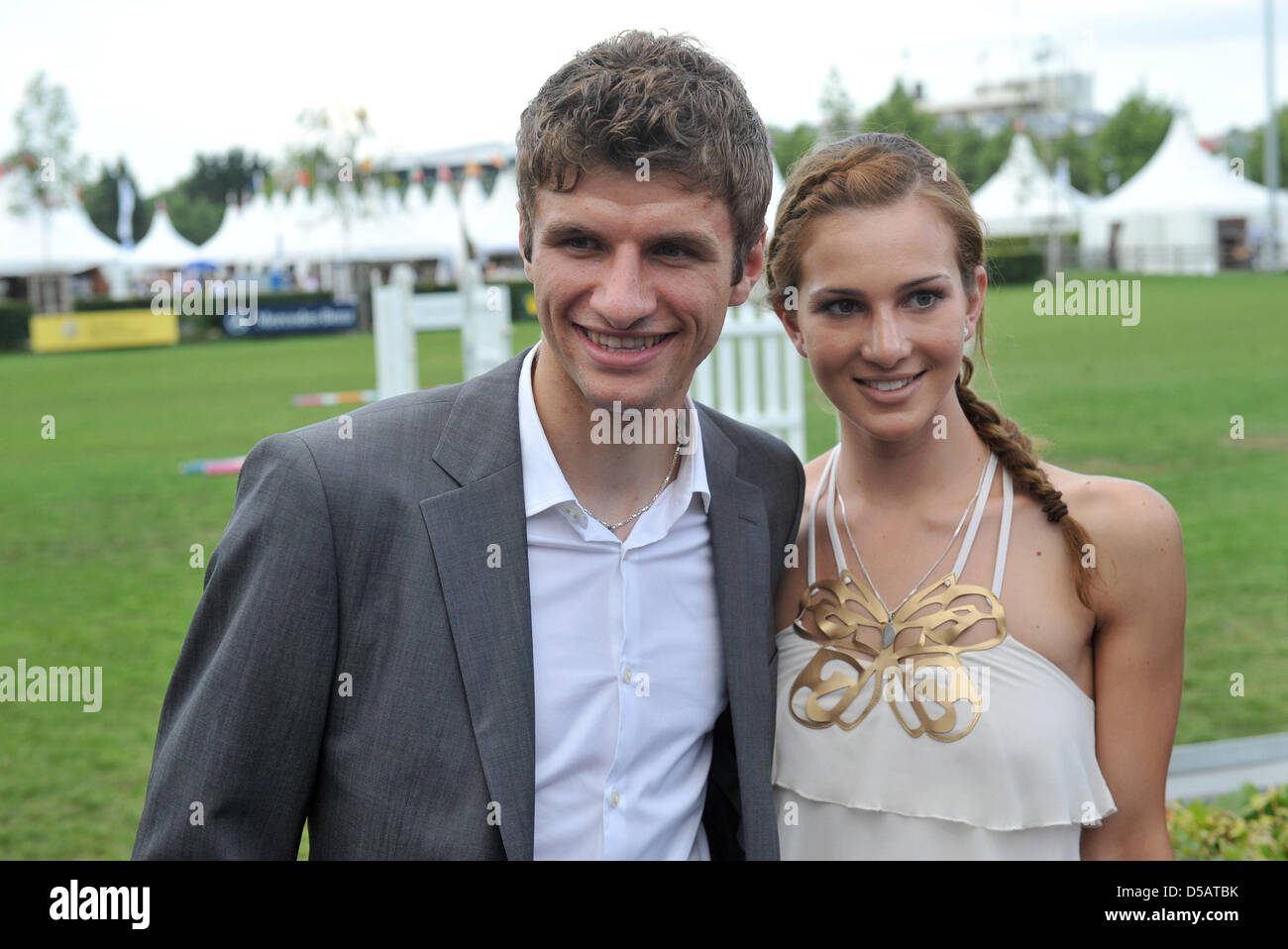 Germany international Thomas Mueller and his wife Lisa attend the Stock  Photo - Alamy