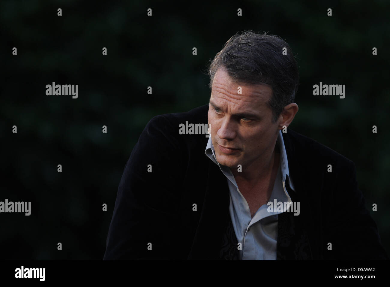 German actor Ralf Bauer performs in 'The Hessian Everyman' in Frankfurt Main, Germany, 17 July 2010. The - Stock Image