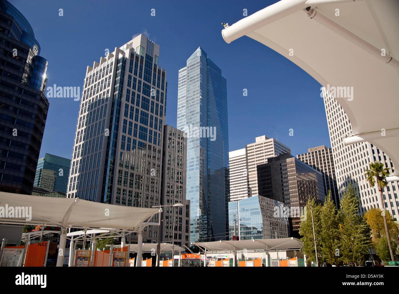 skyscraper of San Francisco Financial District, San Francisco, California, United States of America, USA - Stock Image