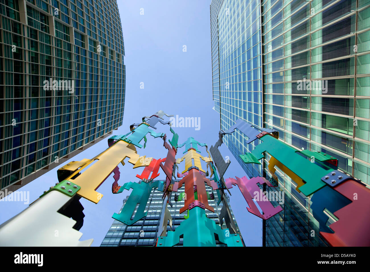 skyscraper and modern art of San Francisco Financial District, San Francisco, California, United States of America, - Stock Image
