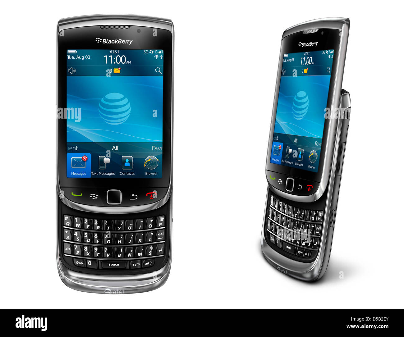 An undated RIMhandout of a Blackberry Torch 9800. The Torch 9800's premiere went down the drain as the - Stock Image