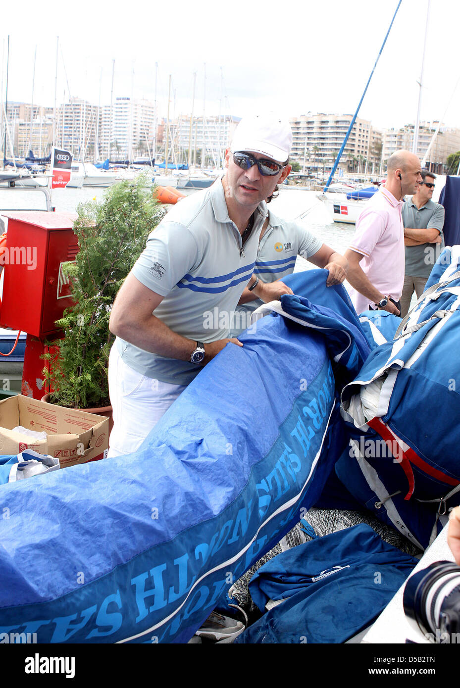 Spanish Crown Price Felipe attends the third day of the 29th edition of the Sailing King's Cup (Copa del Rey) - Stock Image