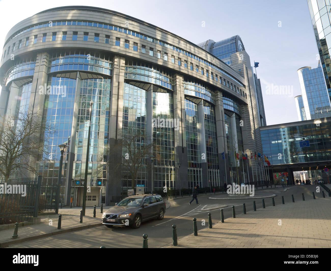 The European Parliament building in Brussels, Belgium - Stock Image