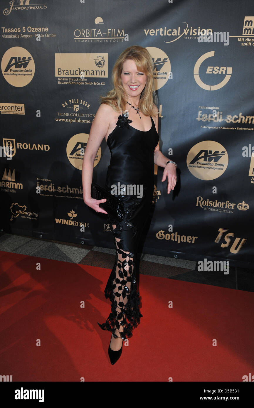 Presenter Antonia Langsdorf arrives at the Jummimueues Charity Gala 2010 in Cologne, Germany, 08 January 2010. Some - Stock Image