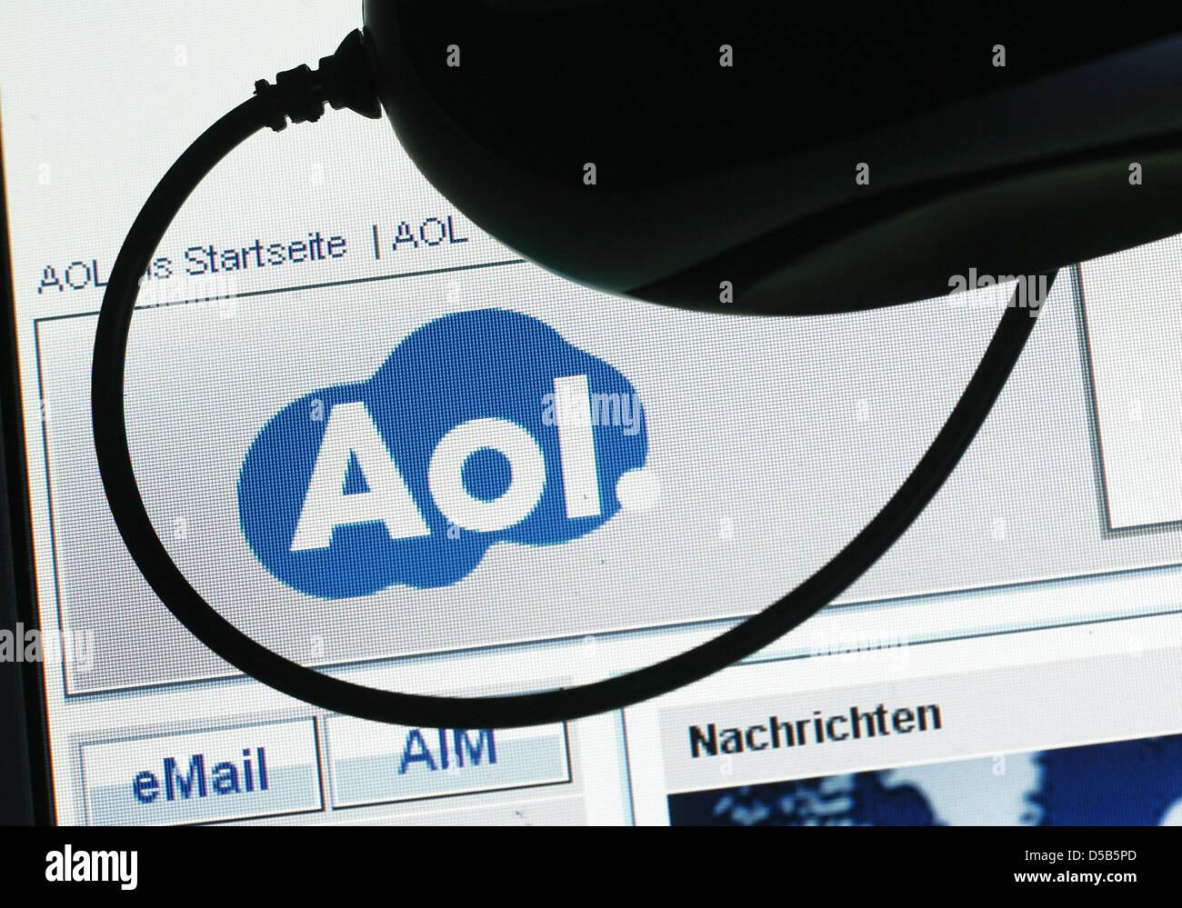 Homepage des Internet-Dienstleisters AOL, aufgenommen am Dienstag (12.01.2010) in Magdeburg. Der amerikanische Konzern - Stock Image