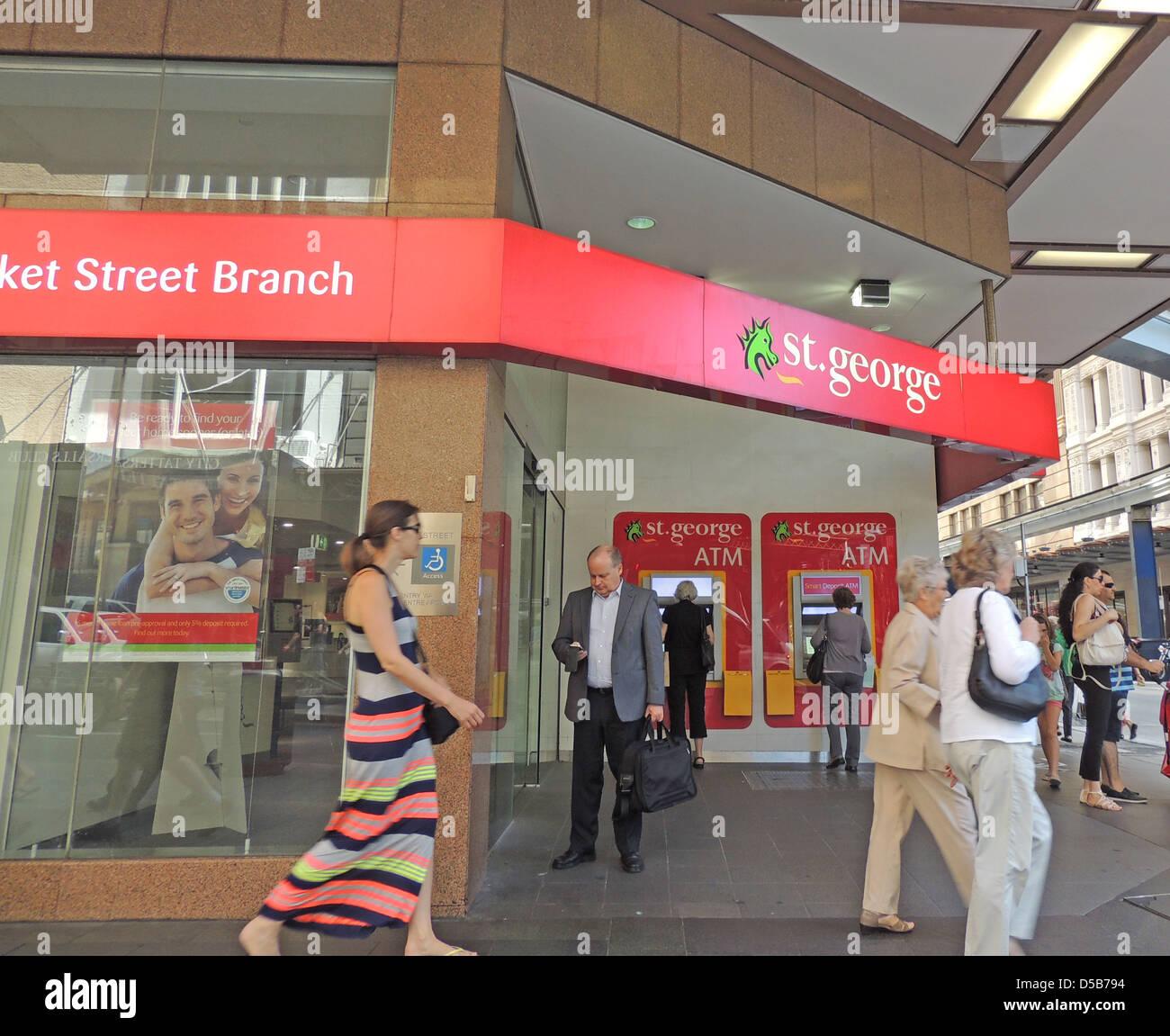 ST, GEORGE BANK branch in Sydney, Australia. Photo Tony Gale - Stock Image