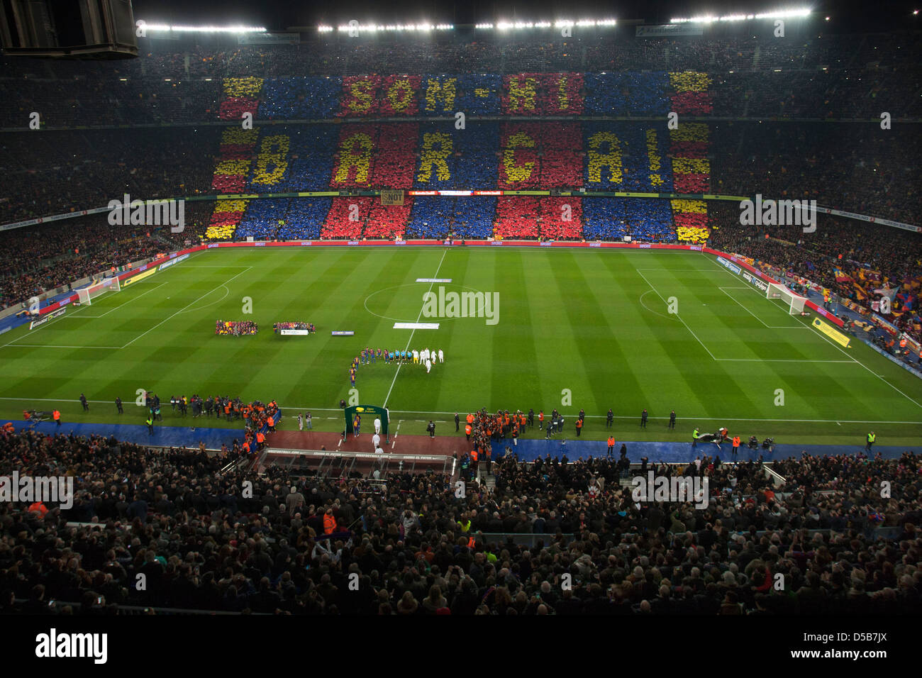 Barcelona, Spain, FC Barcelona vs Real Madrid at the Camp Nou stadium Stock Photo