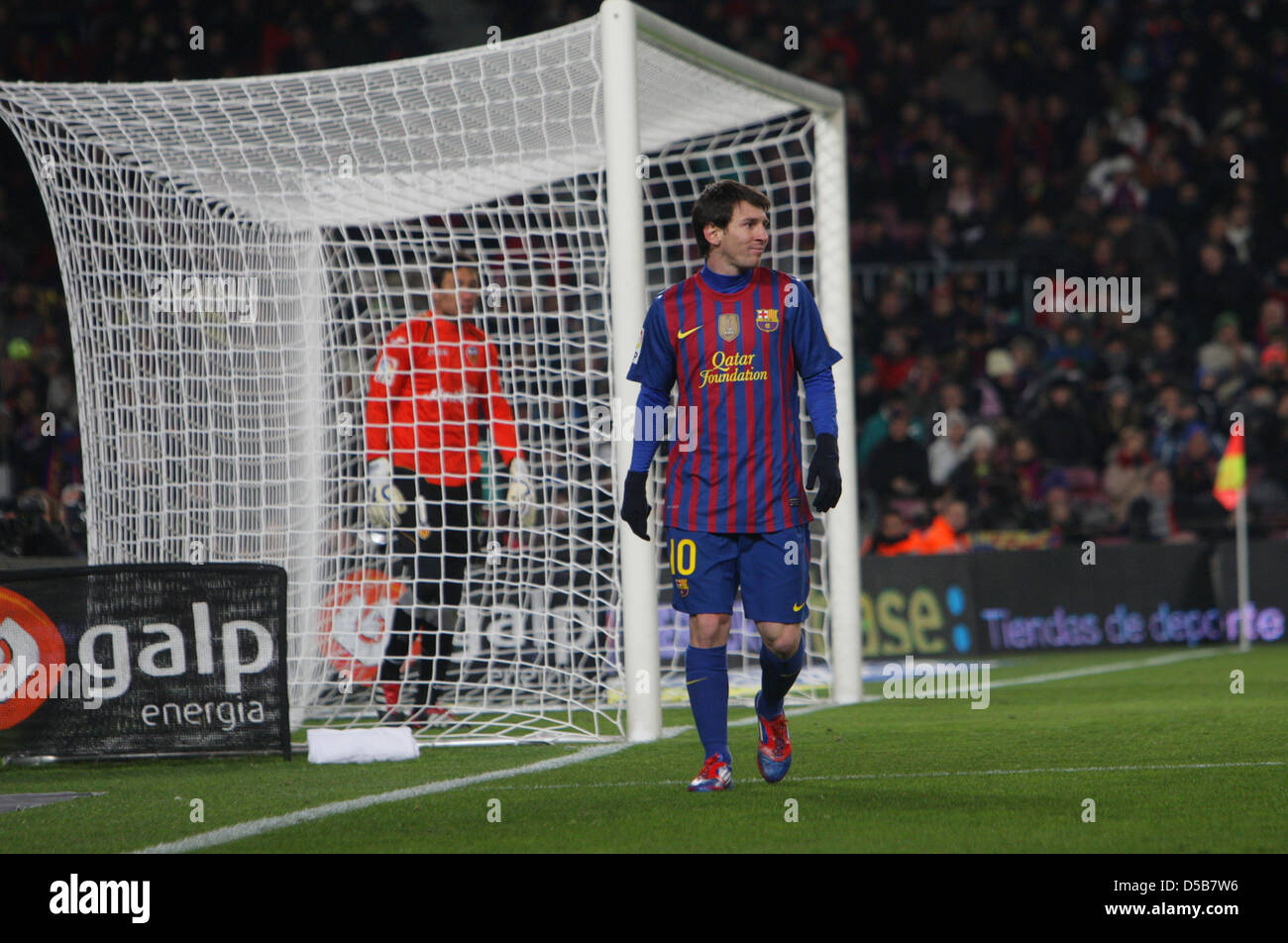 Barcelona, Spain, Leo Messi of FC Barcelona with number 10 - Stock Image