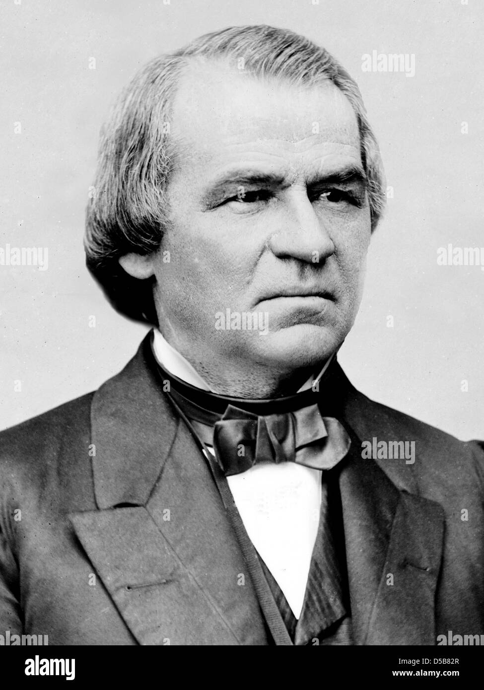 ANDREW JOHNSON (1808-1875) who became 17th President of the USA when Lincoln was assassinated. - Stock Image