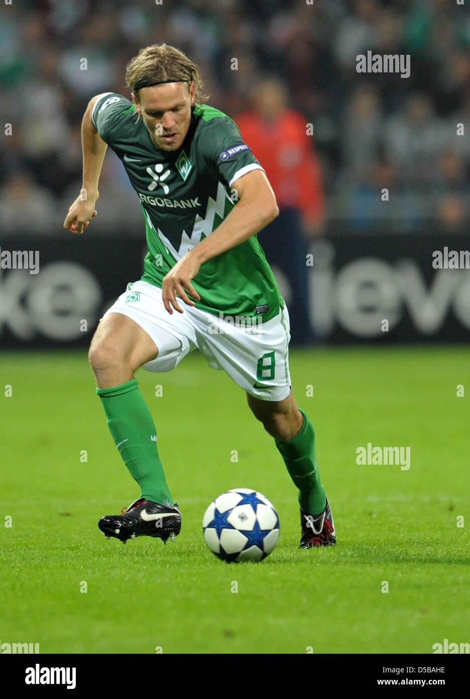 Fu§ball, Champions League, Qualifikation, Werder Bremen - UC Sampdoria Genua am Mittwoch (18.08.2010) im Weserstadion - Stock Image