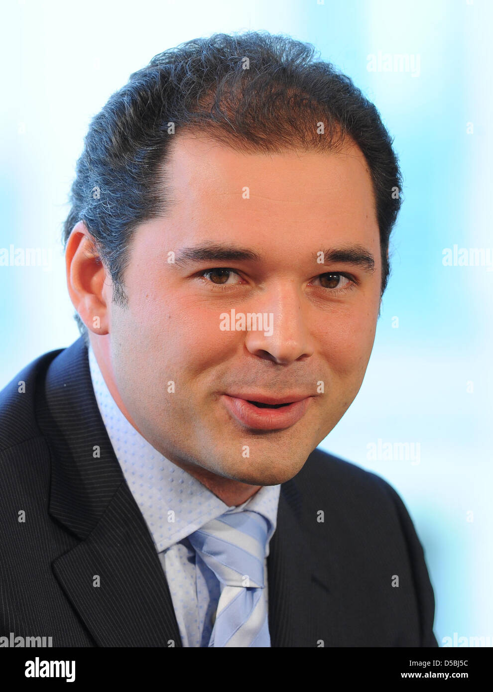 Ossetian maestro Tugan Sokhiev during a press conference in Berlin, Germany, 06 September 2010. Sokhiev is to be - Stock Image