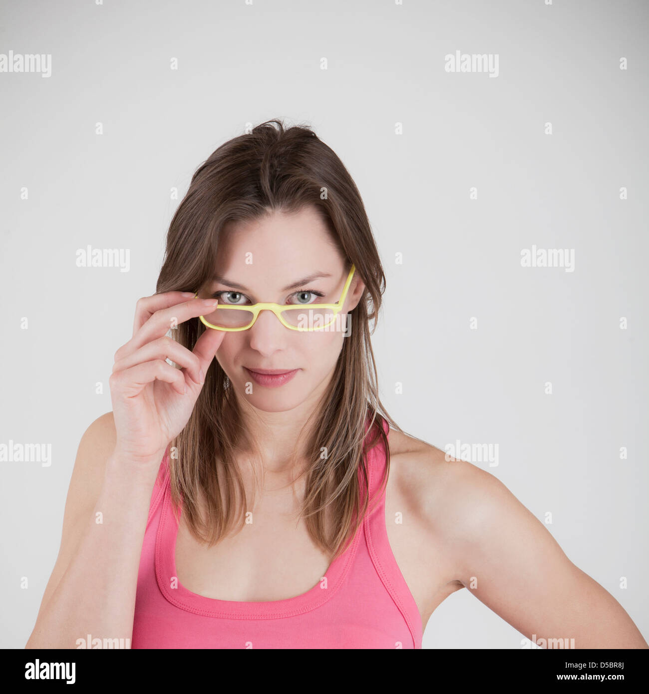 woman with spectacles - Stock Image