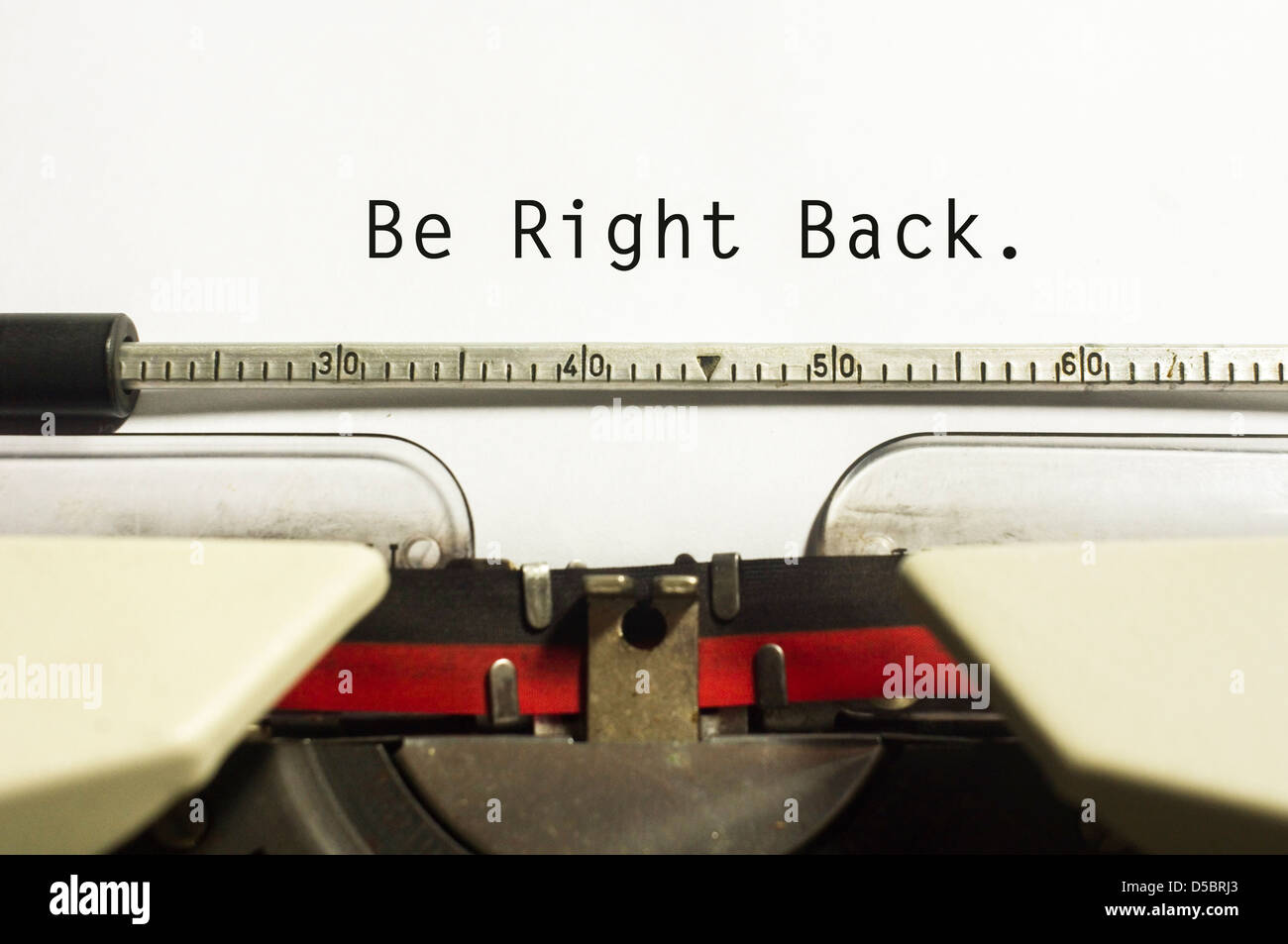 Be Right Back Concepts With Message On Typewriter For Website Maintenance