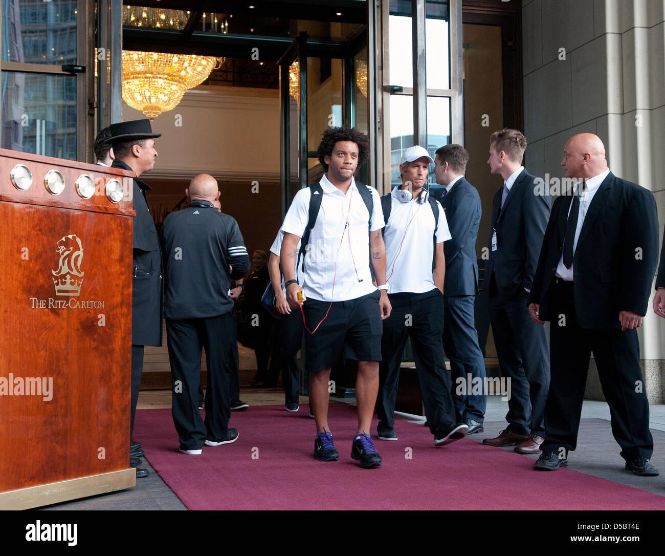 132b058f24e Marcelo Vieira da Silva Júnior of Real Madrid leaving hotel Ritz Carlton.  Berlin