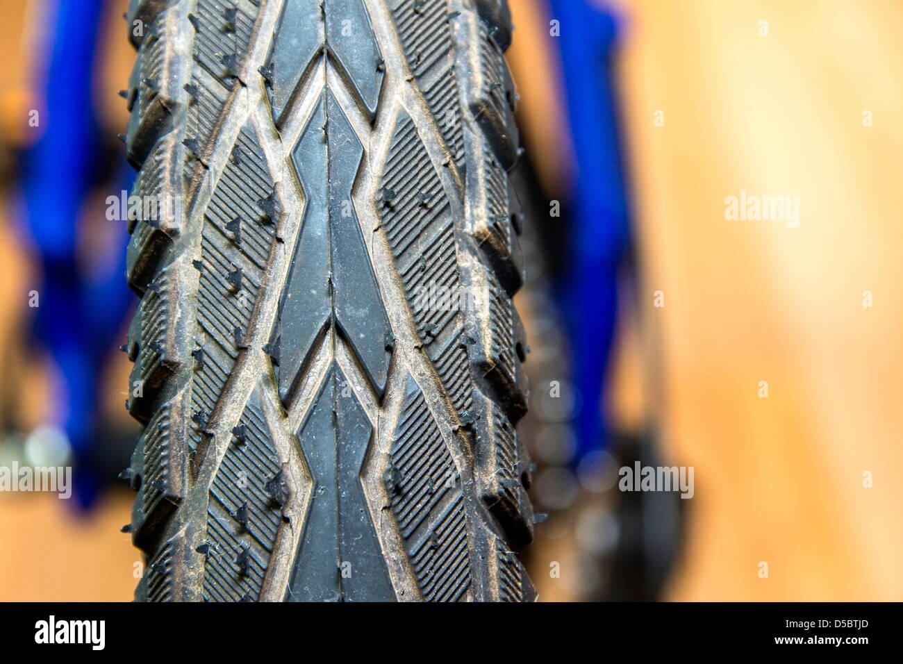 Detail of bicycle wheel close up - Stock Image