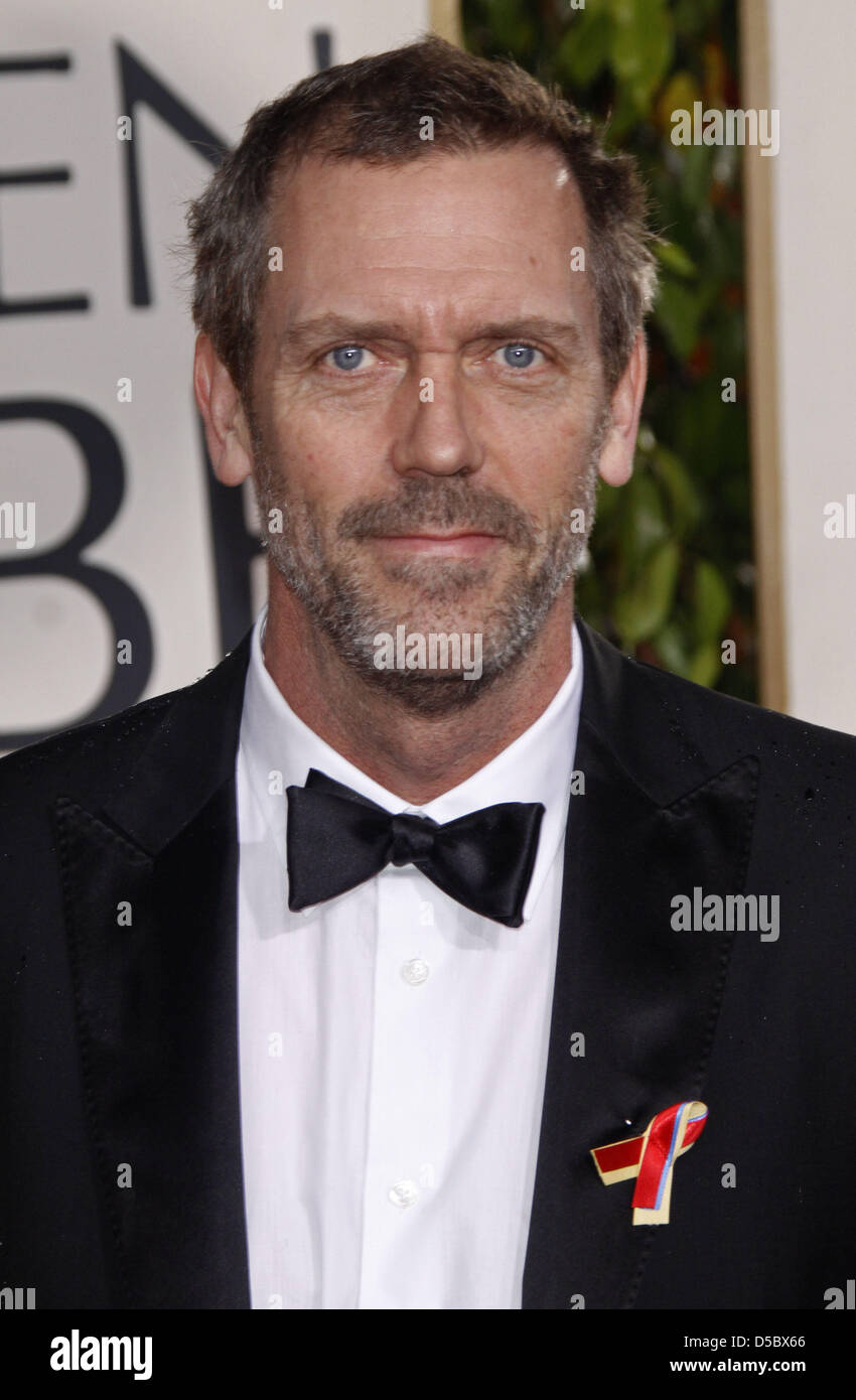 British actor Hugh Laurie arrives for the 67th Golden Globe Awards in Los Angeles, USA, 17 January 2010. The Globes - Stock Image