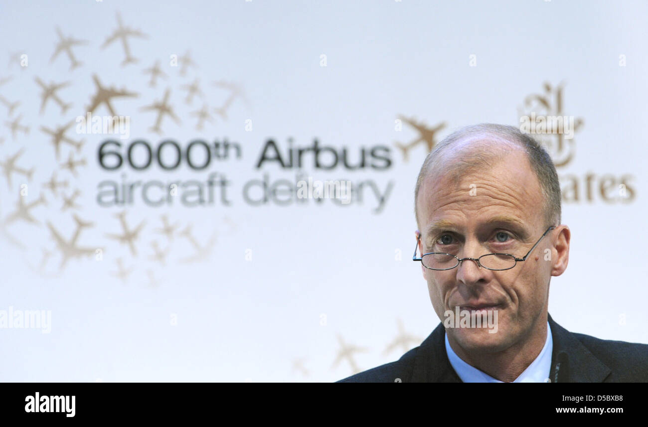 The President and CEO of Airbus, Tom Enders delivers a