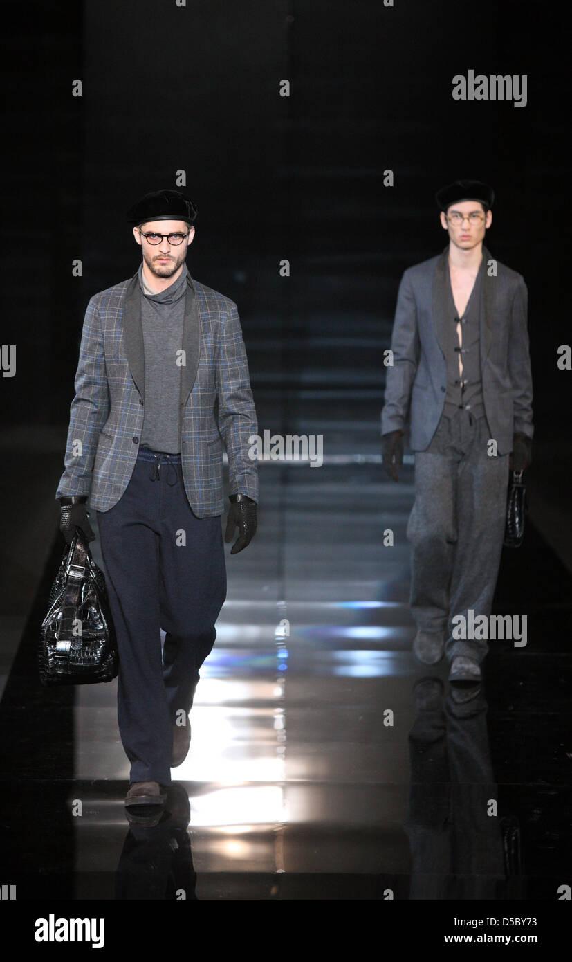 e4daabea0da2 Models present creations by Giorgio Armani at the Milano Moda Uomo  Fall-Winter 2010 11