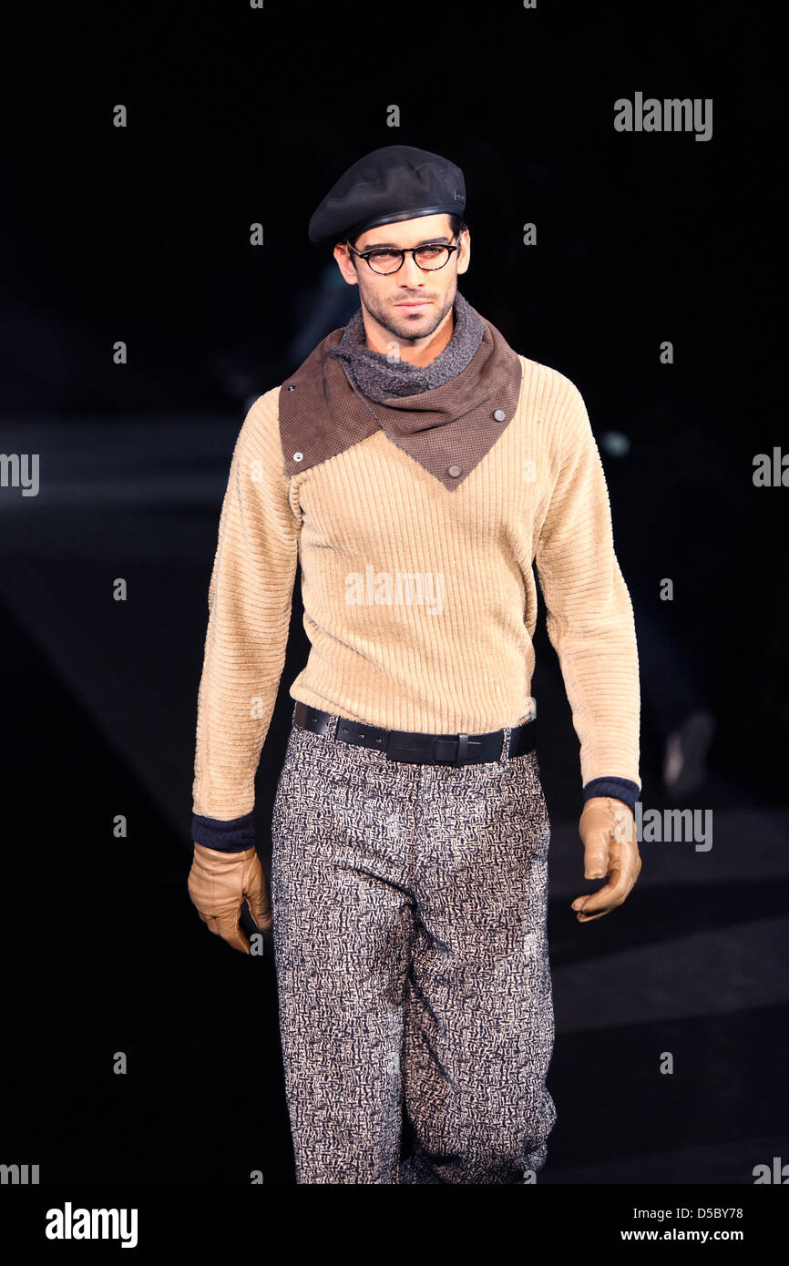 huge selection of later detailed pictures A model presents creations by Giorgio Armani at the Milano ...
