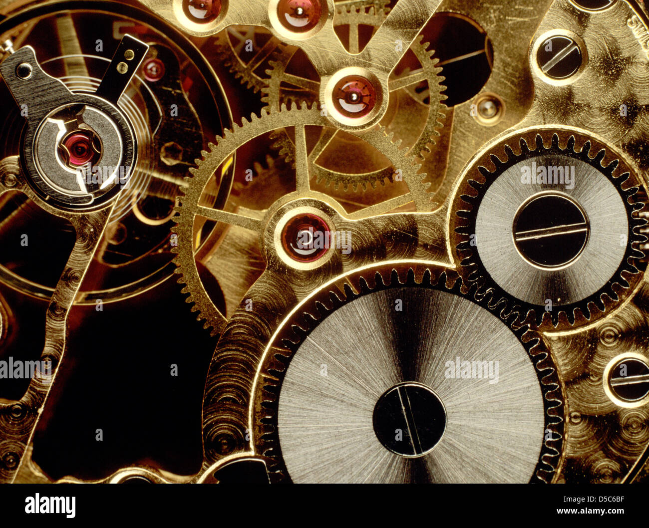cogs in an old watch mechanism close up stock photo 54972835 alamy