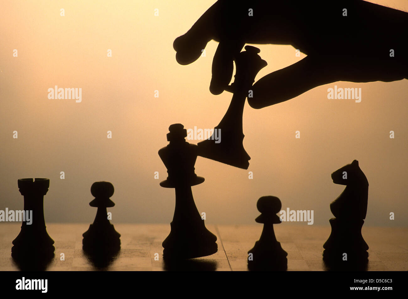 Board game - Chess game - Stock Image