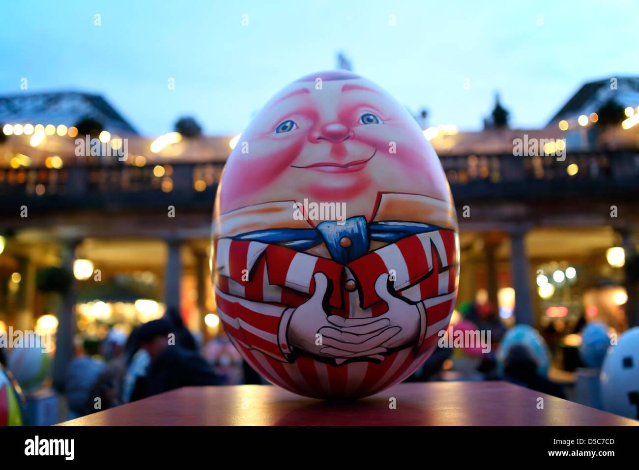 giant easter egg 'Covent Garden' London Stock Photo