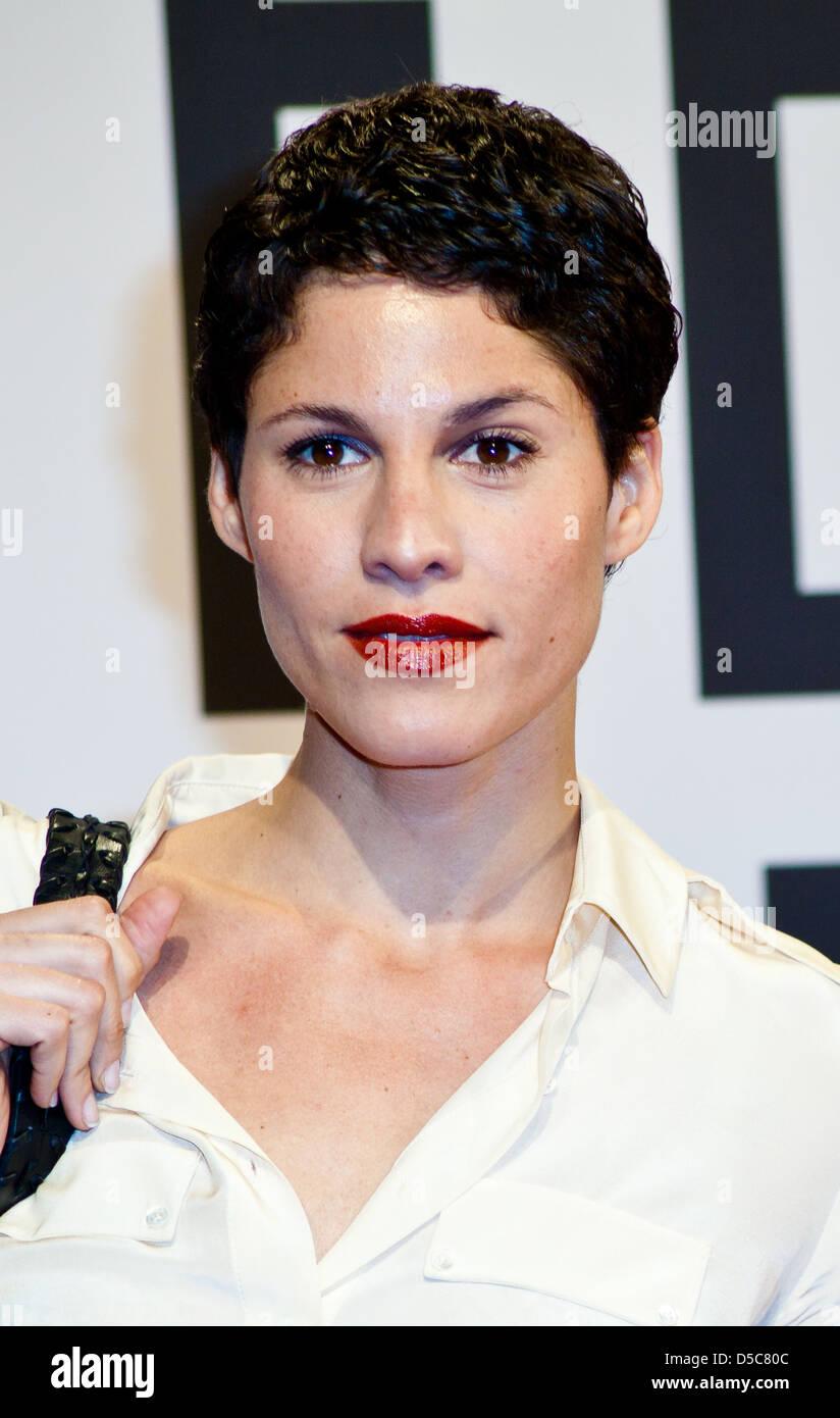 Jasmin Gerat at the launch of Filmfest Hamburg with the premiere of 'Auf Wiedersehen' at CinemaxX movie - Stock Image