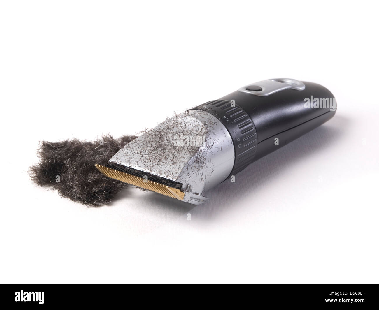 modern electric hair isolated with hair.in white background Stock Photo