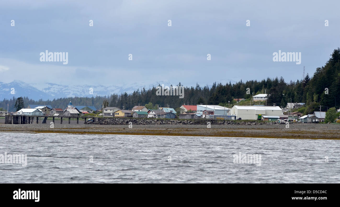 The Tlingit town of Kake, Alaska. - Stock Image