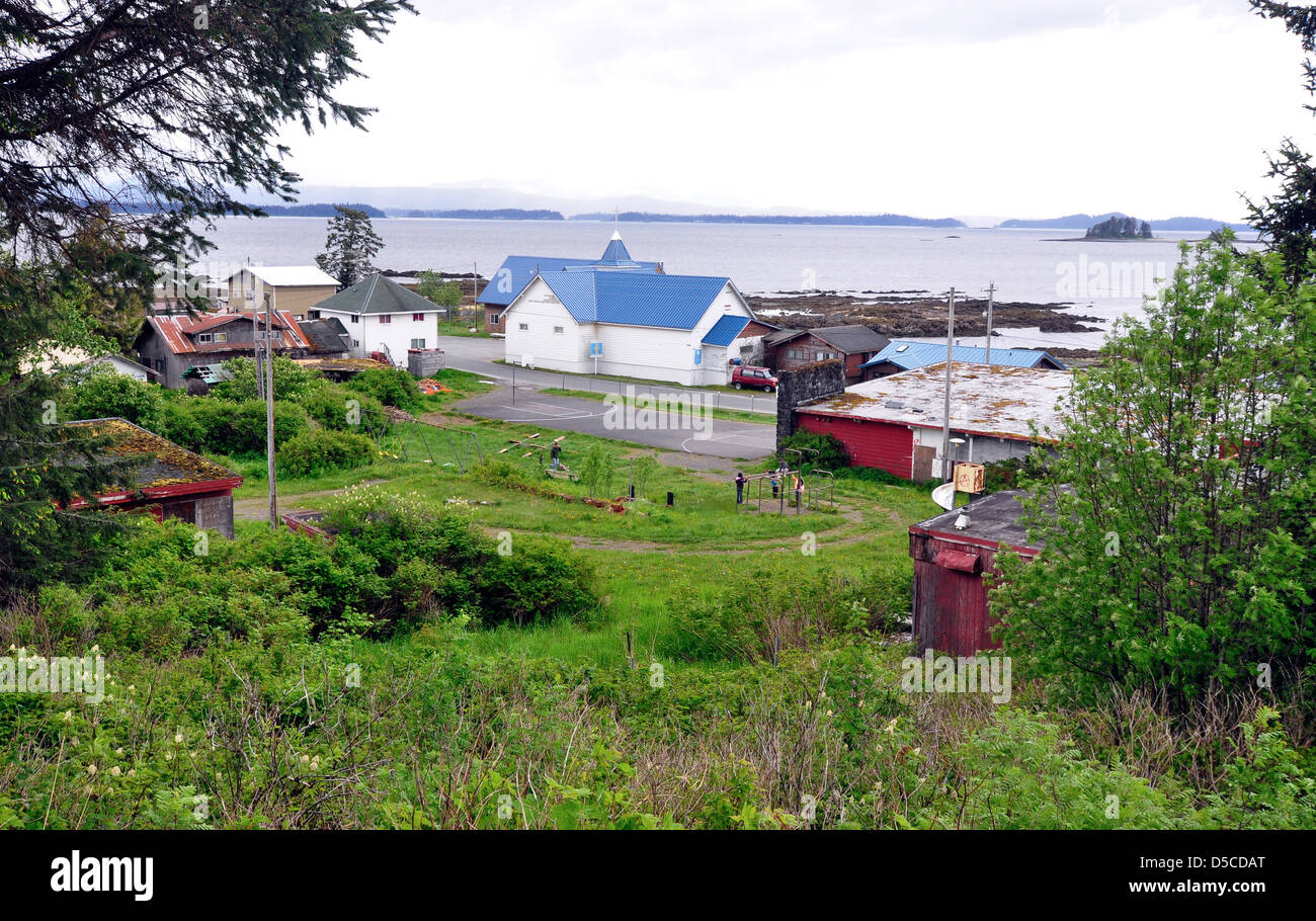 Tlingit Indian town of Kake, Alaska. - Stock Image
