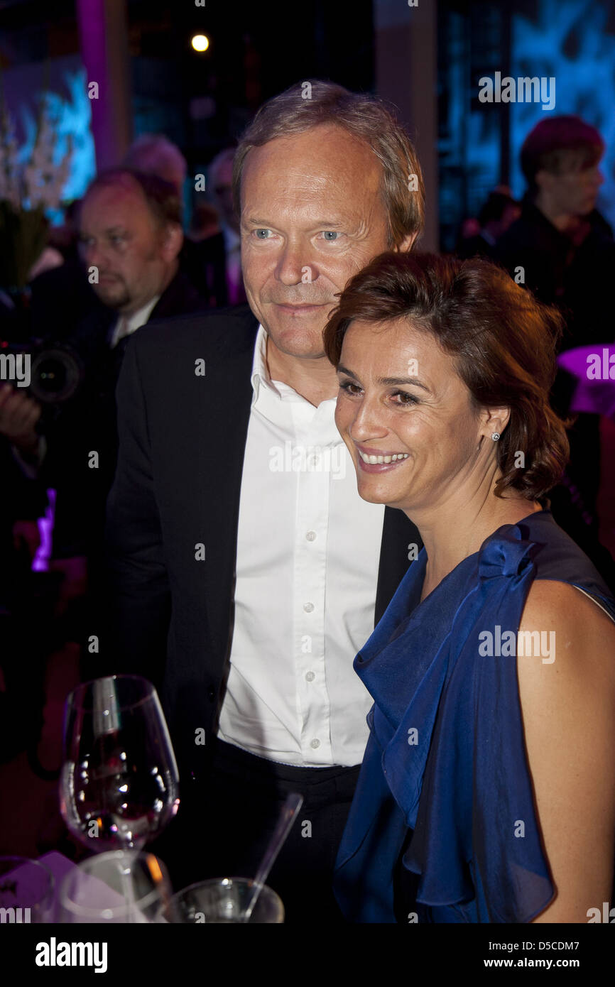 Sandra Maischberger and Guest at Deutscher Fernsehpreis 2011 at Coloneum - Aftershow Party. Cologne, Germany - 02.10.2011 Stock Photo