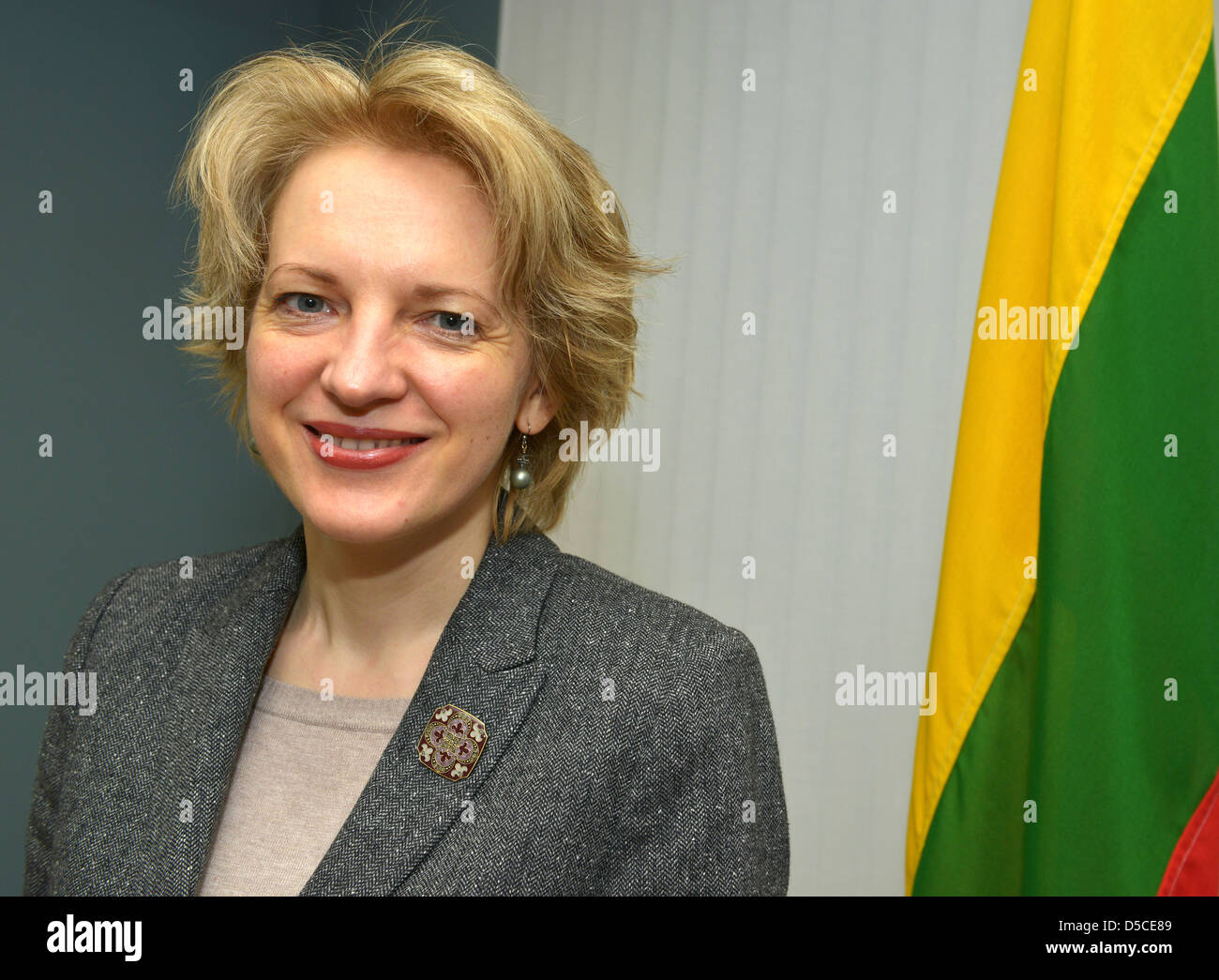 Lithuania Ambassador in London, Asta Skaisgiryte-Liauskiene - Stock Image