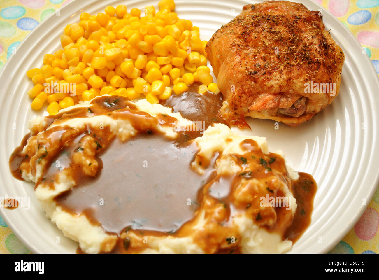 recipe: chicken and gravy over mashed potatoes [39]