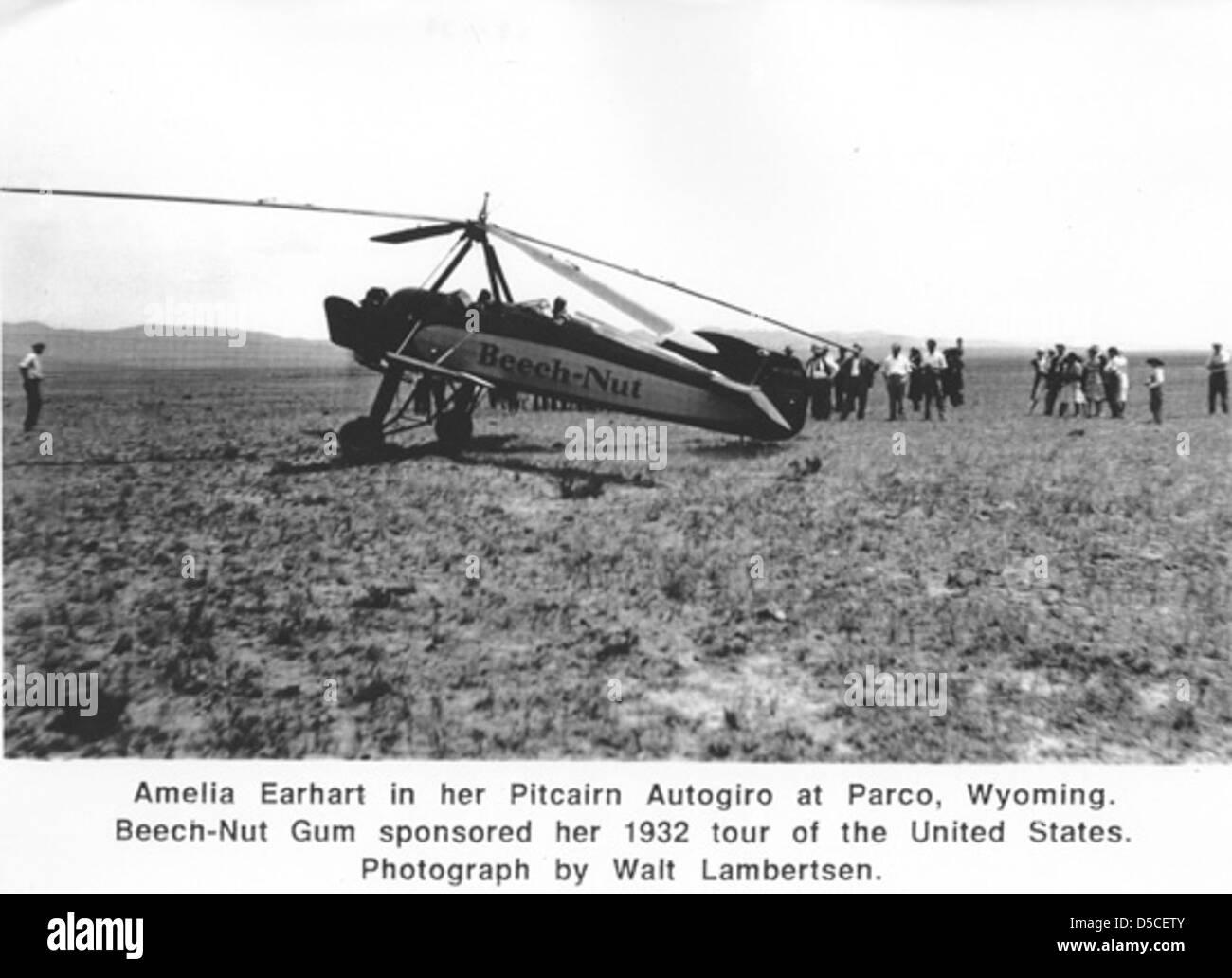 Earhart , Amelia - Stock Image