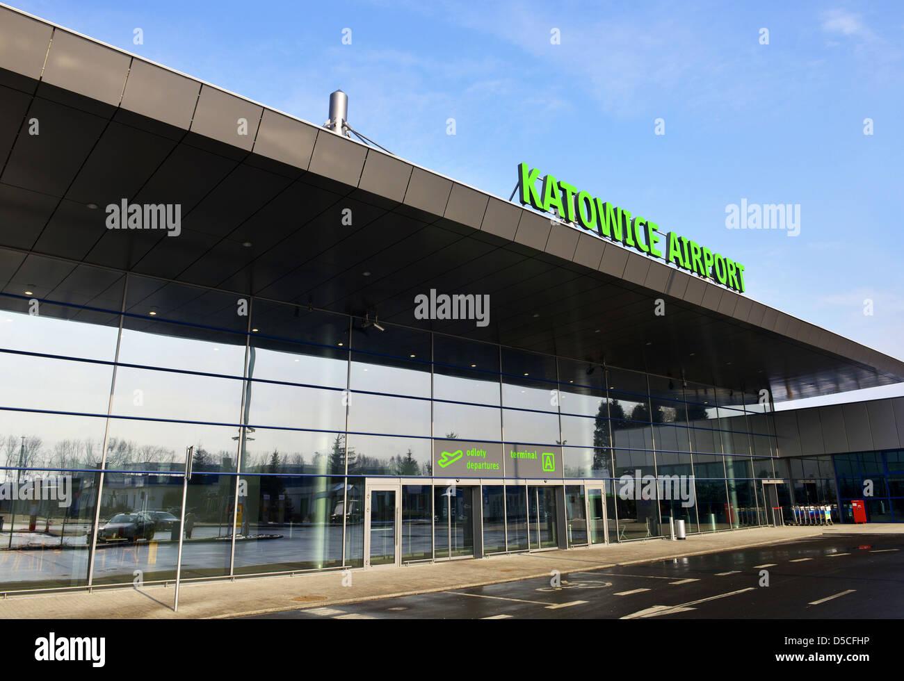 Katowice Airport, Poland Stock Photo